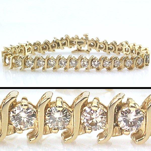 11638: 7 CARAT DIAMOND TENNIS BRACELET - 7.25 INCHES
