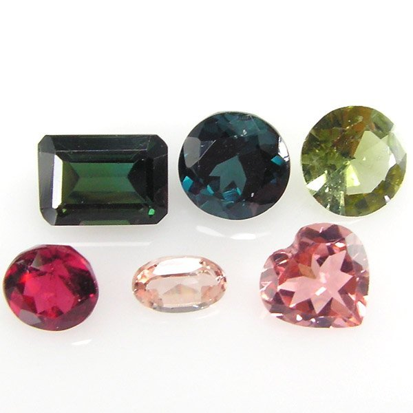 21014: MULTI COLOR TOURMALINE LOTS 4.29CTS