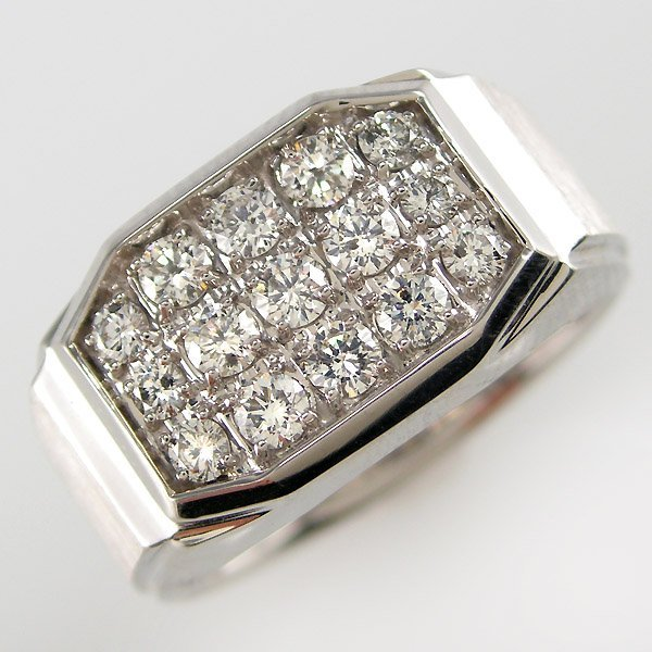 52222: 14KT MEN'S DIAMOND RING 1.00 CARAT SZ 10