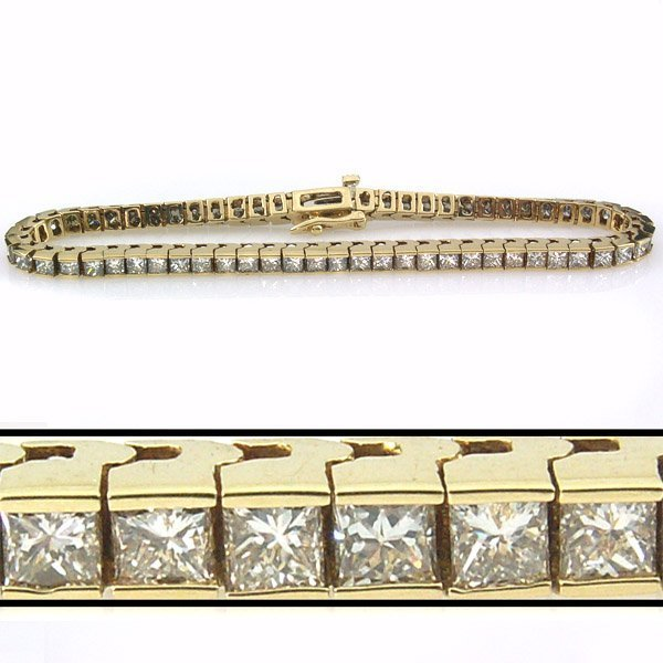 41525: 6 CARAT DIAMOND TENNIS BRACELET - 7 INCHES