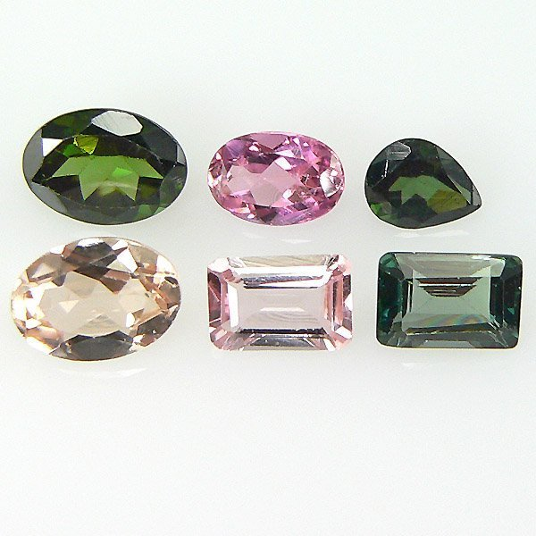 31017: MULTI COLOR TOURMALINE LOTS 3.49CTS