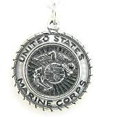 12128 SS US MARINE CORPS MEDALLION CHARM