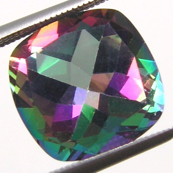 41017: MYSTIC TOPAZ ANTIQUE CUSHION CUT 10MM APRX 4.74C