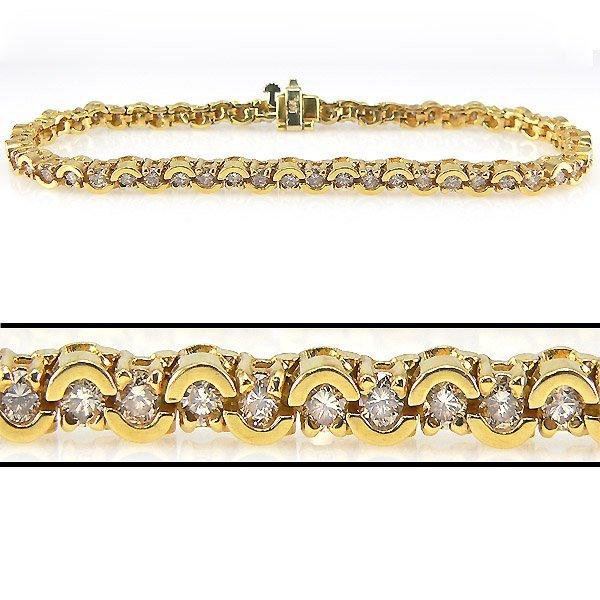 52191: 3 CARAT DIAMOND TENNIS BRACELET