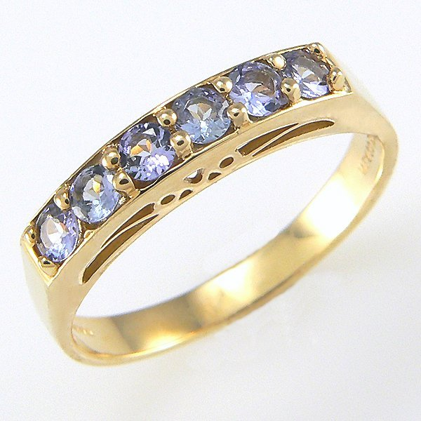 61018: 10KY TANZANITE-2MM BAND SZ 6.5