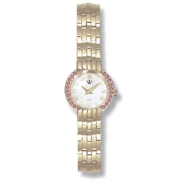 21011: Ladies 5th Ave. S-Steel Ruby-MOP Watch