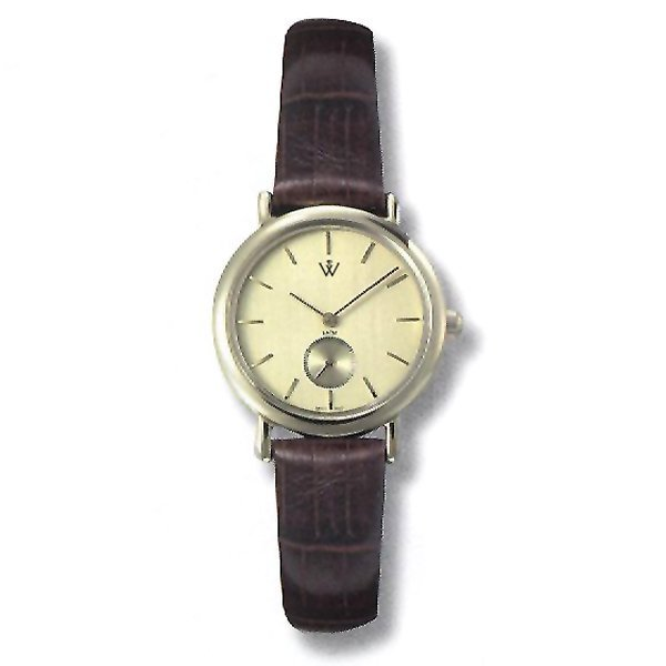 21017: Mens 5th Ave. S-Steel-Leather Watch