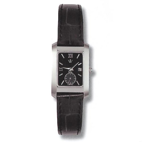 21020: Ladies 5th Ave. S-Steel - Leather Watch