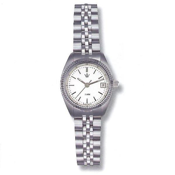 21023: Ladies Presidium Stainless Steel Watch