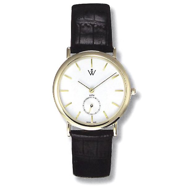 21279: Mens 5th Ave. S-Steel and Leather Automatic
