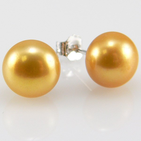 31007: SS 6.5-7 GOLDEN PEARL FWP EARRINGS
