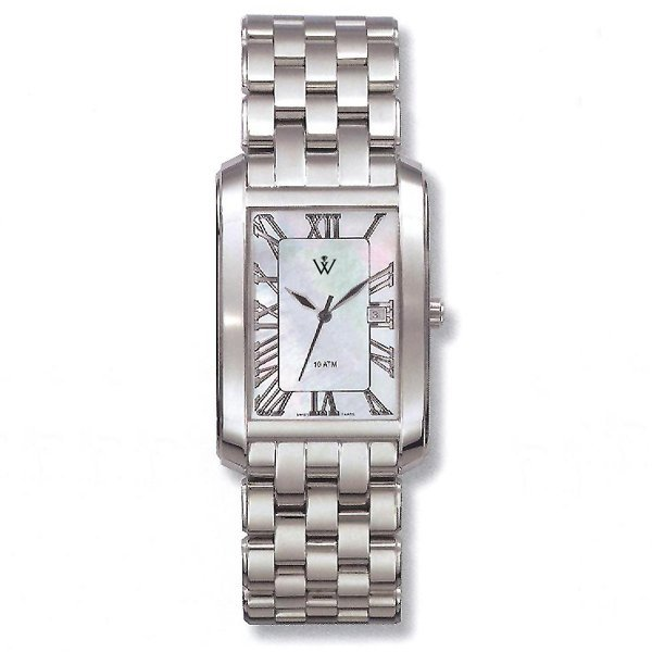 42461: Windsor Sterling Mens S-Steel MOP Watch
