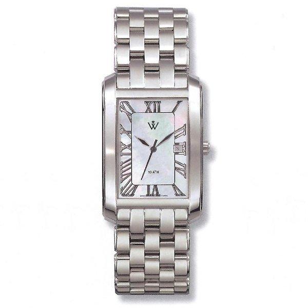 32461: Windsor Sterling Mens S-Steel MOP Watch