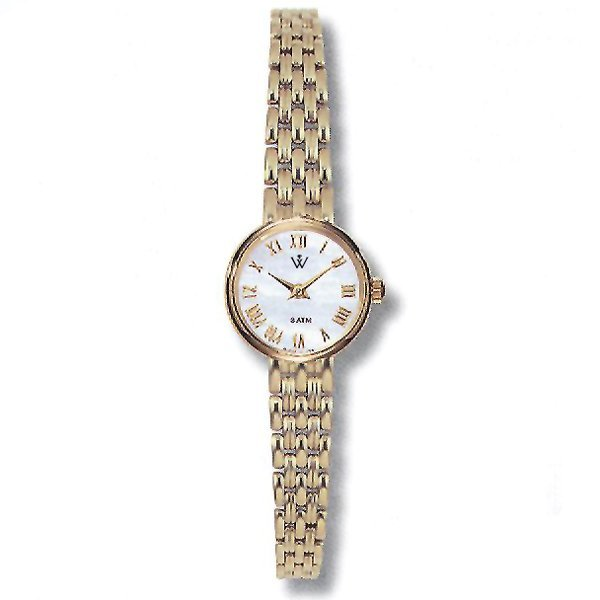 42446: Windsor Sterling Ladies 14KT MOP Watch