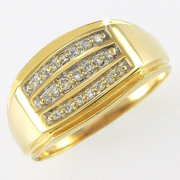 22335: 10KY MEN'S 1/4 CARAT DIA RING SZ 10.5