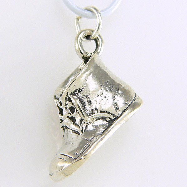 11026: WINDSOR STERLING BABY SHOE CHARM .925 SS