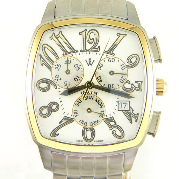 41344: Windsor Sterling Mens 18KT S-Steel Watch