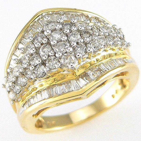 5421: 14KT DIAMOND RING SZ 7 1.50 CARATS
