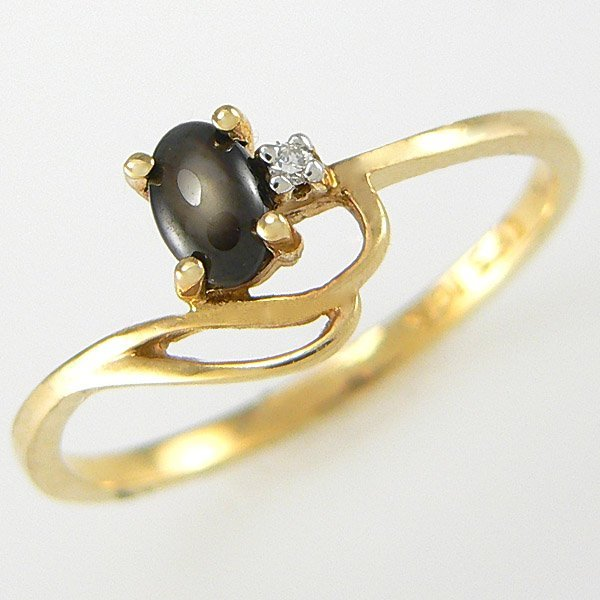 11007: 10KT DIA TIGERS EYE RING SZ 6 0.23TCW