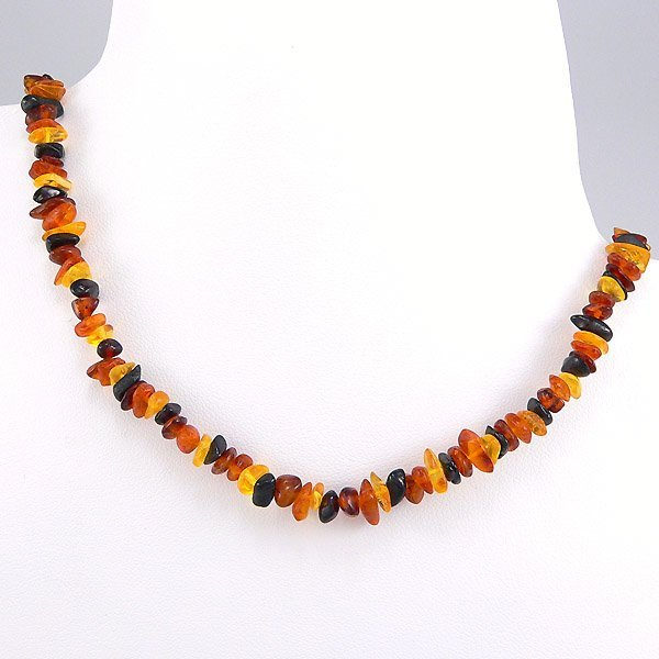 21035: WINDSOR STERLING STRAND MULTI-COLORED AMBER
