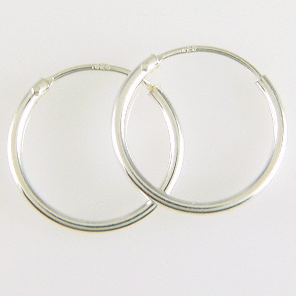 21040: WINDSOR STERLING CLASSIC 10MM ENDLESS HOOPS