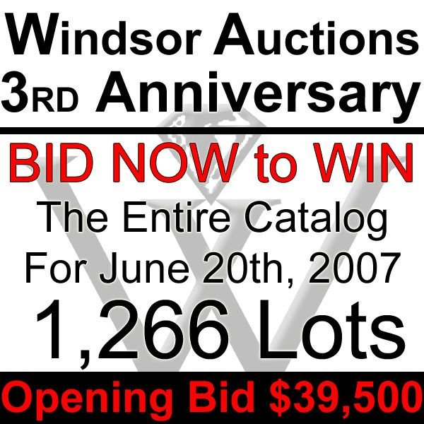 21001: WIN 1,266 LOTS! BID ON ENTIRE WINDSOR CATALOG!