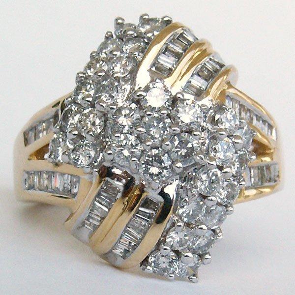 1009: 14KT DIAMOND RING SZ 6.5 1.50TCW