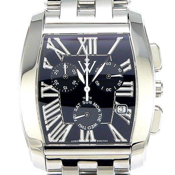 52687: Windsor Sterling Mens Sapphire S-Steel Watch