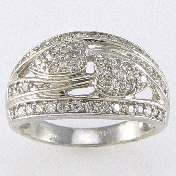 1015: 14KT  DIAMOND RING 0.56TCW SZ 7