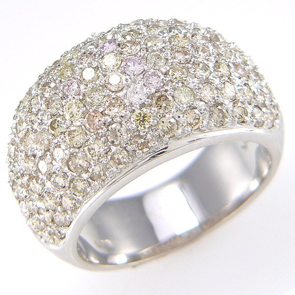 2101: 14KT DIA PAVE RING SZ 6.5 2.46TCW