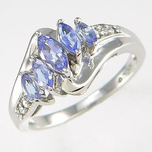 2017: 10KT DIAMOND TANZANITE RING SZ 7 1.37TCW