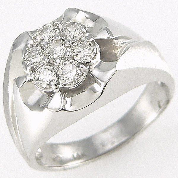 42485: 14KT MENS DIAMOND RING SZ 10 0.80TCW