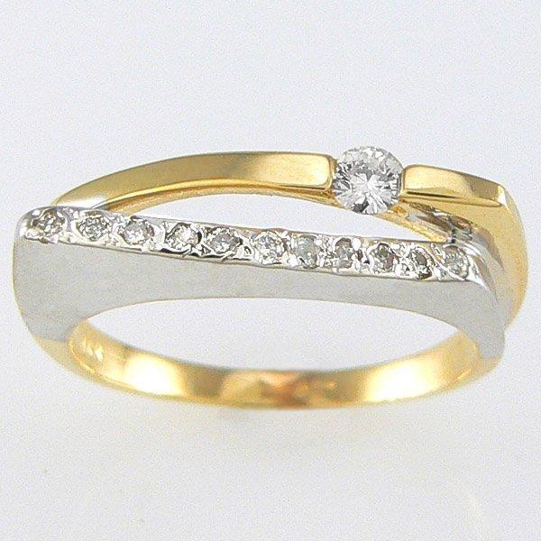 5025: 14KT TT DIAMOND RING 0.25TCW SZ 7