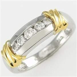 21147: 14KT TT MENS DIAMOND RING SZ 9 0.50CW
