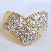 12399: 14KT DIAMOND RING 1.00CT SIZE 7