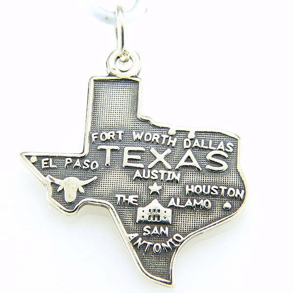 11291: WINDSOR STERLING STATE OF TEXAS CHARM .925 SS