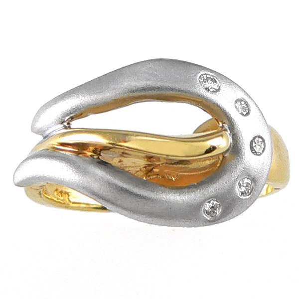 11298: 14KT TT DIAMOND FASHION RING 0.10TCW SZ 7