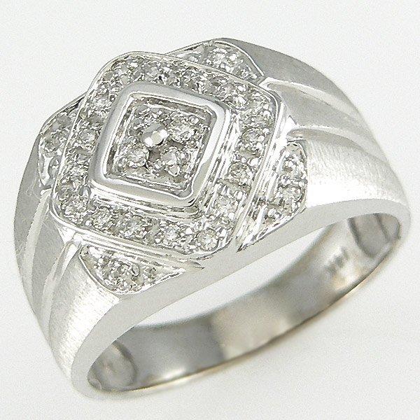 11299: 14KT MEN'S DIAMOND RING SZ 10.5 1.00TCW