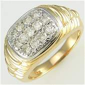 31691: 14KT MEN'S DIAMOND RING SZ 10 1.30TCW