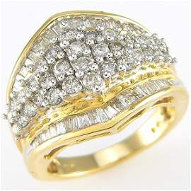 110421: 14KT DIAMOND RING SZ 7 1.50 CARATS