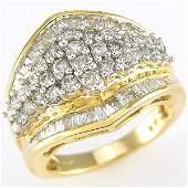 210421: 14KT DIAMOND RING SZ 7 1.50 CARATS