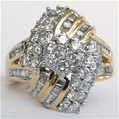 310009: 14KT DIAMOND RING SZ 6.5 1.50TCW