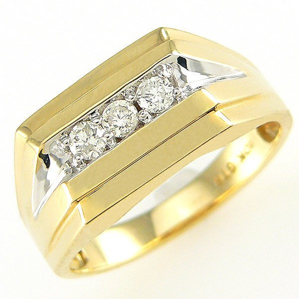 210388: 10KT MENS DIAMOND RING SZ 9 0.45TCW