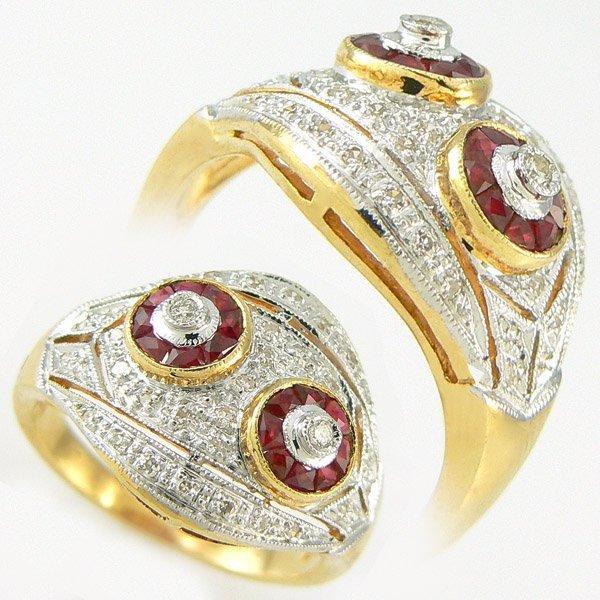 2012: RUBY & DIAMOND RING 0.98TCW 14KT SZ 6