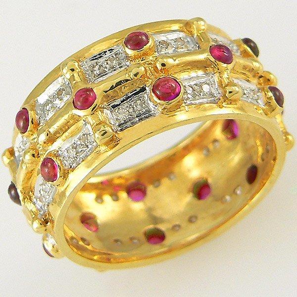 2023: RUBY & DIAMOND RING 1.63TCW 14KT SZ 7
