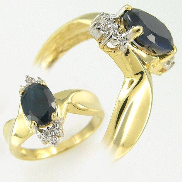 3007: SAPPHIRE & DIAMOND RING 1.79 CTW 10KT.GOLD