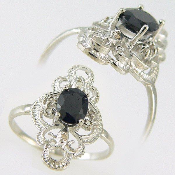 5016: SAPPHIRE & DIAMOND RING 1.10 CTW 10KT.GOLD