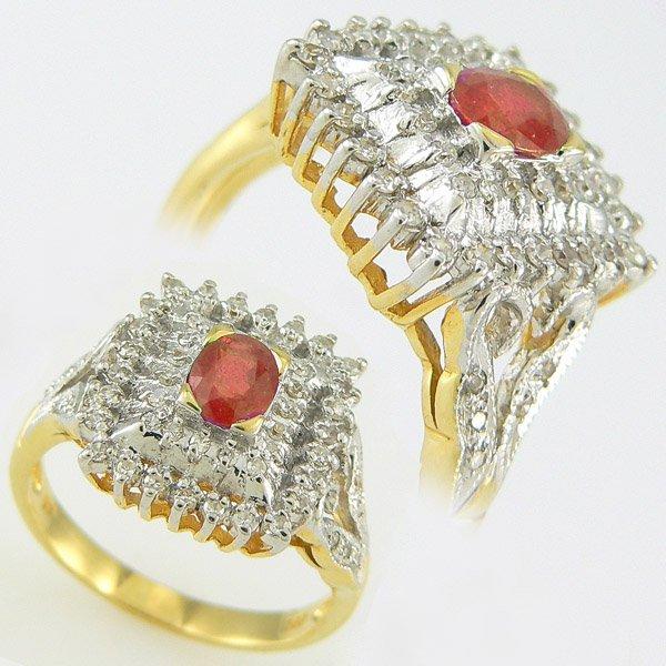 5006: RUBY & DIAMOND RING 0.76TCW 14KT SZ 6.25