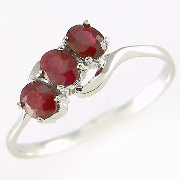500054: 14KT RUBY RING 0.60CT SZ 6.75