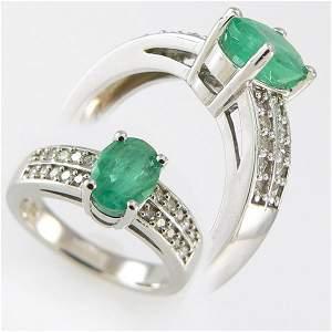 311111370: EMERALD & DIAMOND RING 3.25 CTW 14KT. GOLD